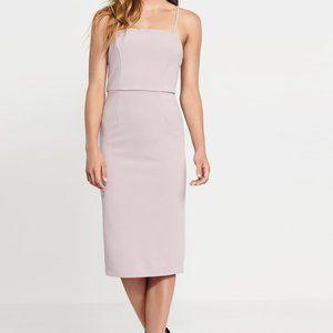 Dynamite lilac body con dress w/ removable straps